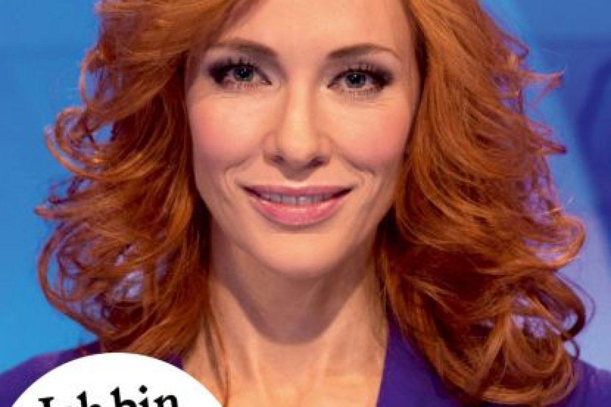 Una presentadora de noticias… Foto:vía shop.monopol-magazin.de. Imagen Por: