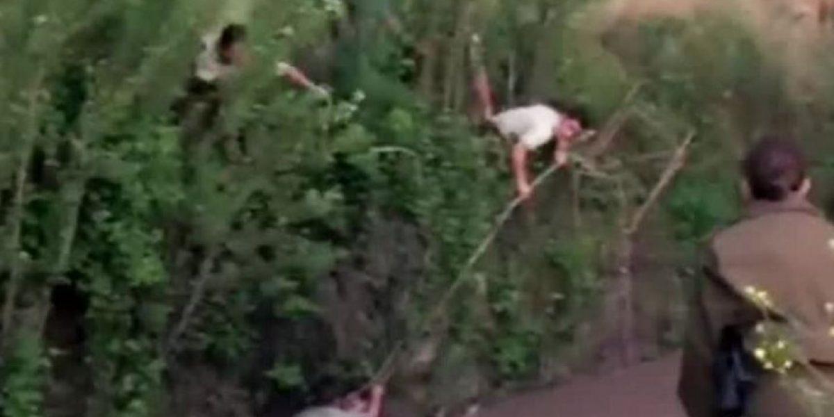 Heroica acción de carabinero de 19 años para rescatar a mujer del canal San Carlos