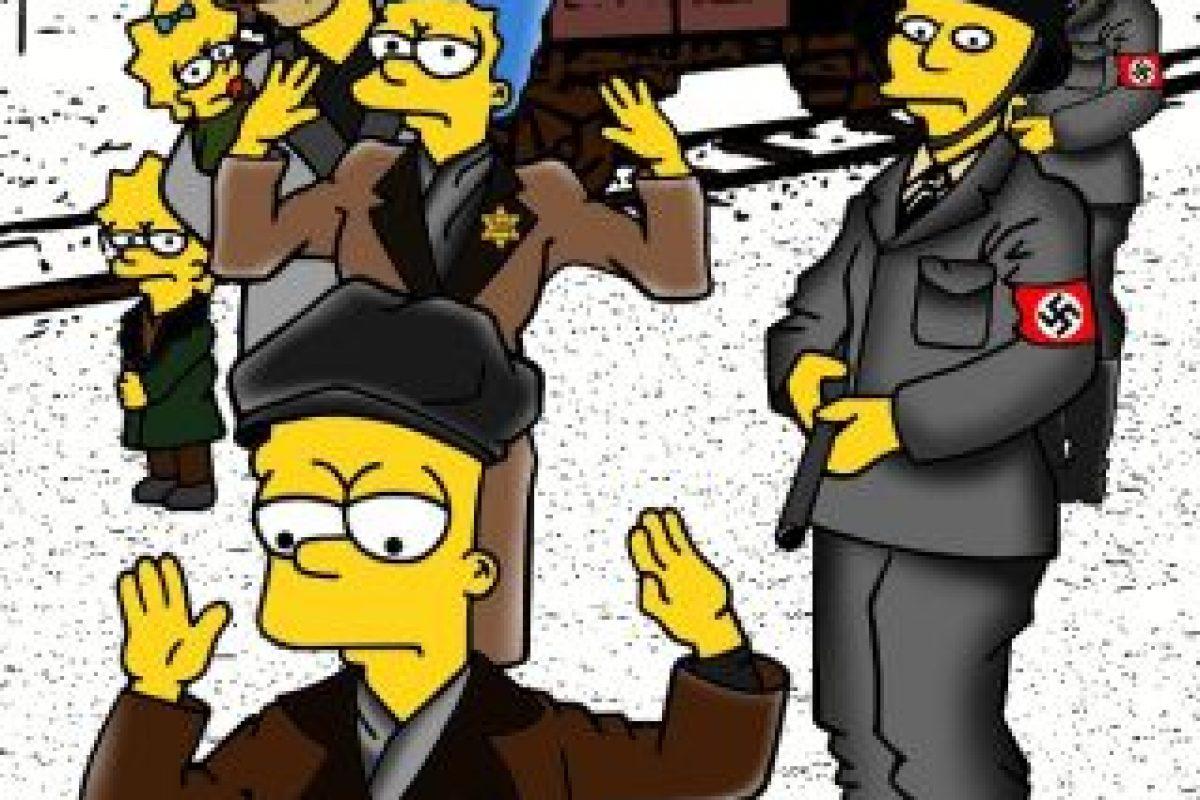 Utilizó a los personajes de Los Simpson como víctimas de los Campos de Concentración Foto:aleXsandro Palombo. Imagen Por: