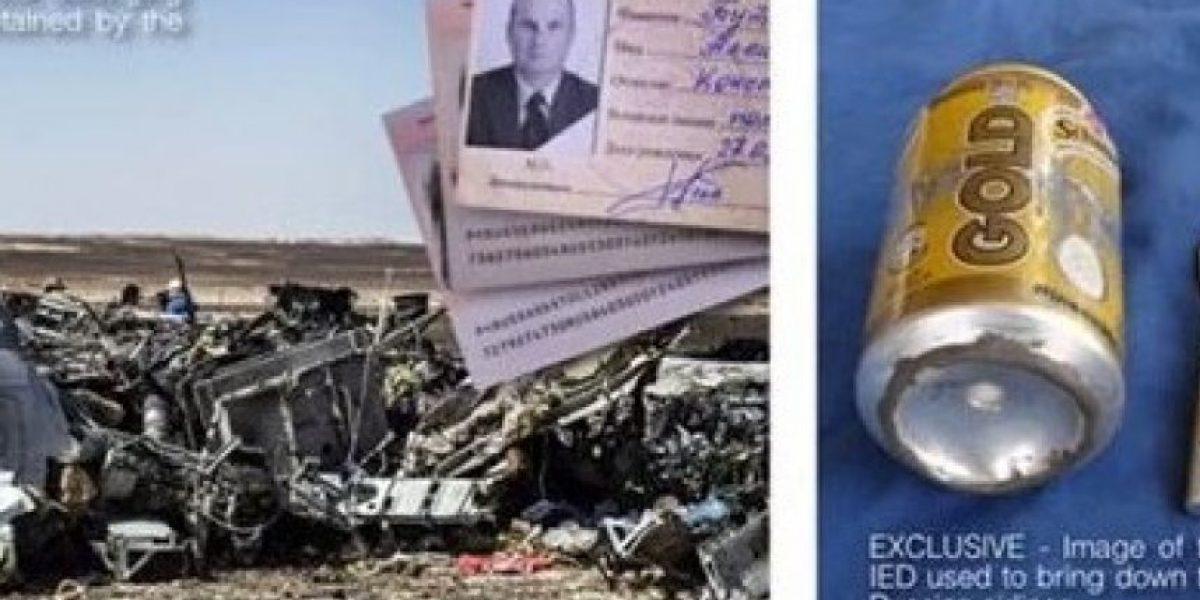 EI publica foto del explosivo que derribó al avión ruso