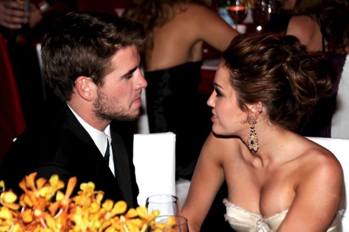 Liam Hemsworth y Miley Cyrus Foto:Getty Images. Imagen Por: