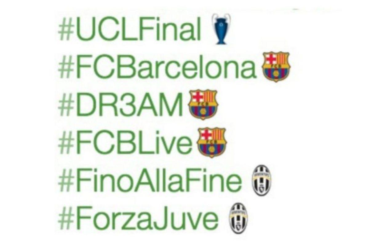 3- Emojis por la final de la UEFA Champions League entre Barcelona y Juventus. Foto:vía Twitter.com. Imagen Por: