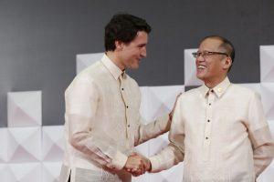 Trudeau junto con el presidente de Filipinas Benigno Aquino III. Foto:AP. Imagen Por: