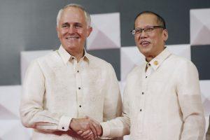 El primer ministro de australia, Malcolm Turnbull y el presidente filipino. Foto:AP. Imagen Por: