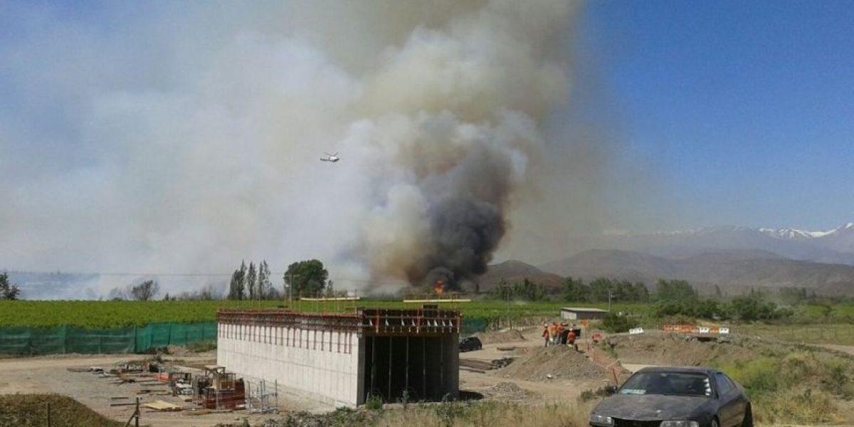 Onemi declara Alerta Roja para la comuna de San Felipe por incendio forestal