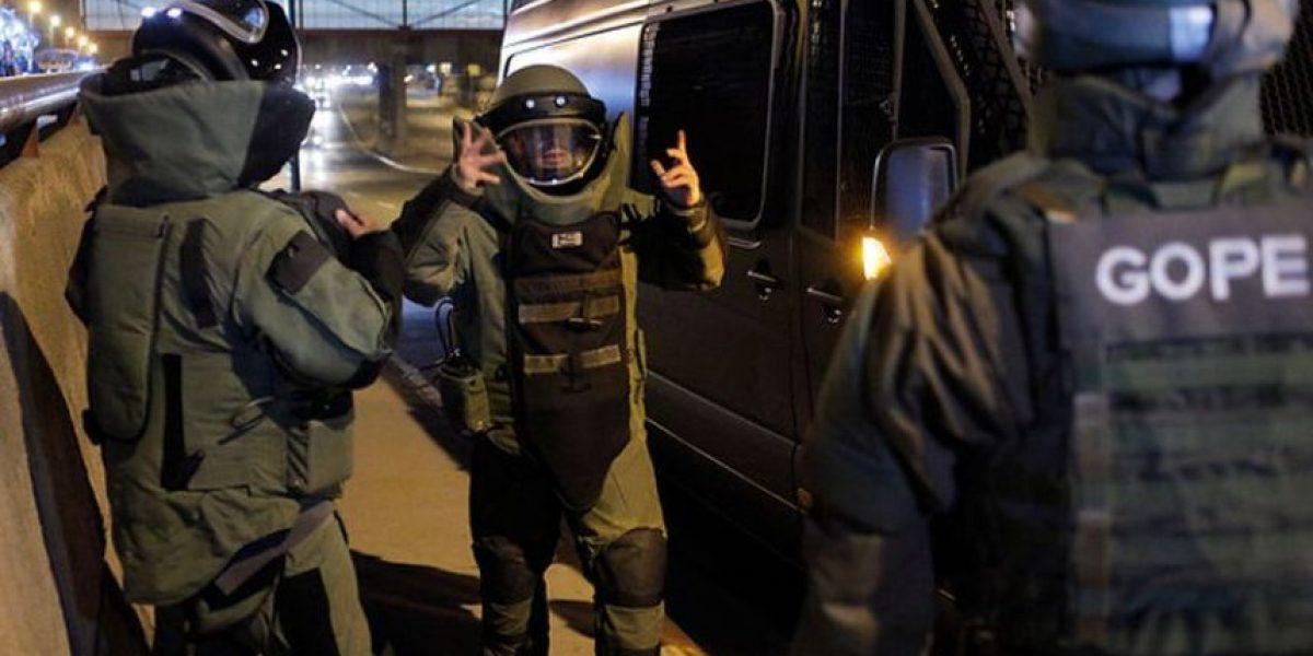 Detonan artefacto explosivo en afueras de Escuela de Gendarmería