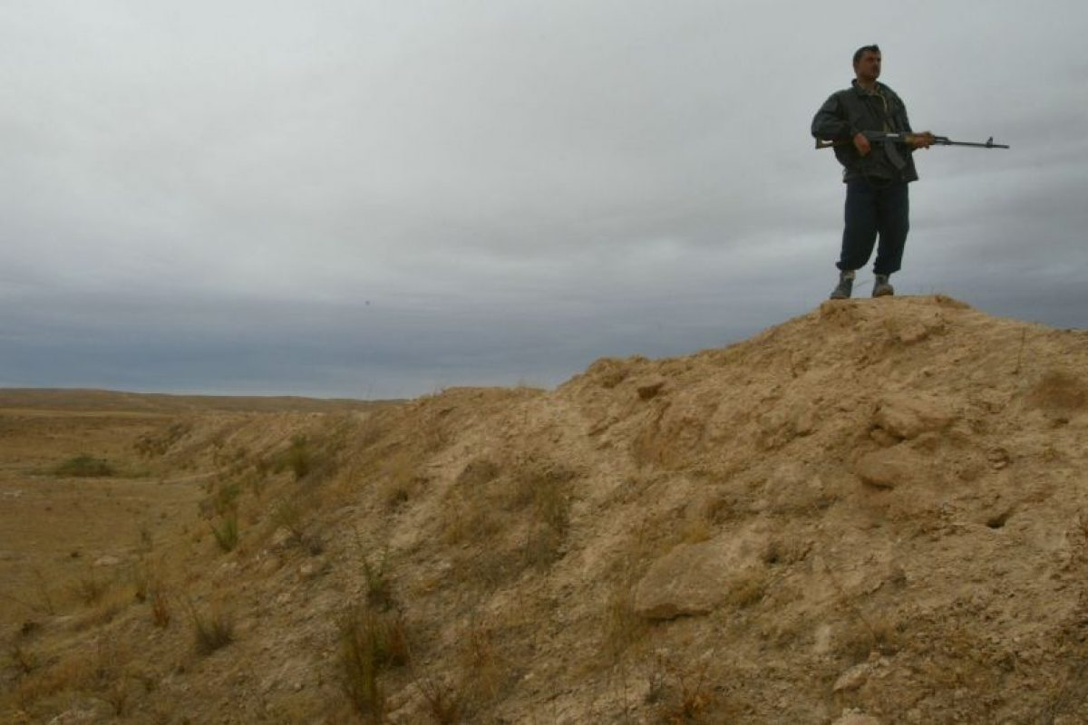 4. Así lucía la frontera con Irak Foto:Getty Images. Imagen Por:
