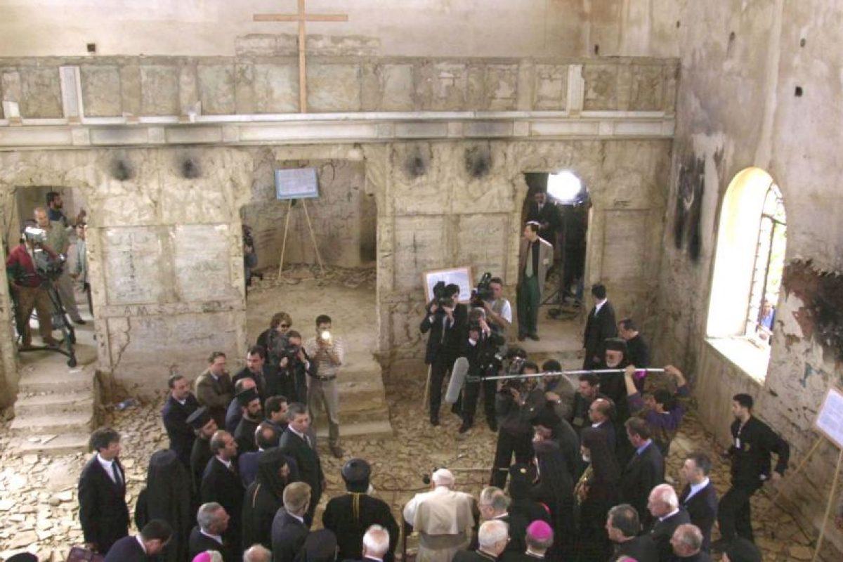 Visitó la iglesia de San Juan en el pueblo de Quneitra Foto:Getty Images. Imagen Por: