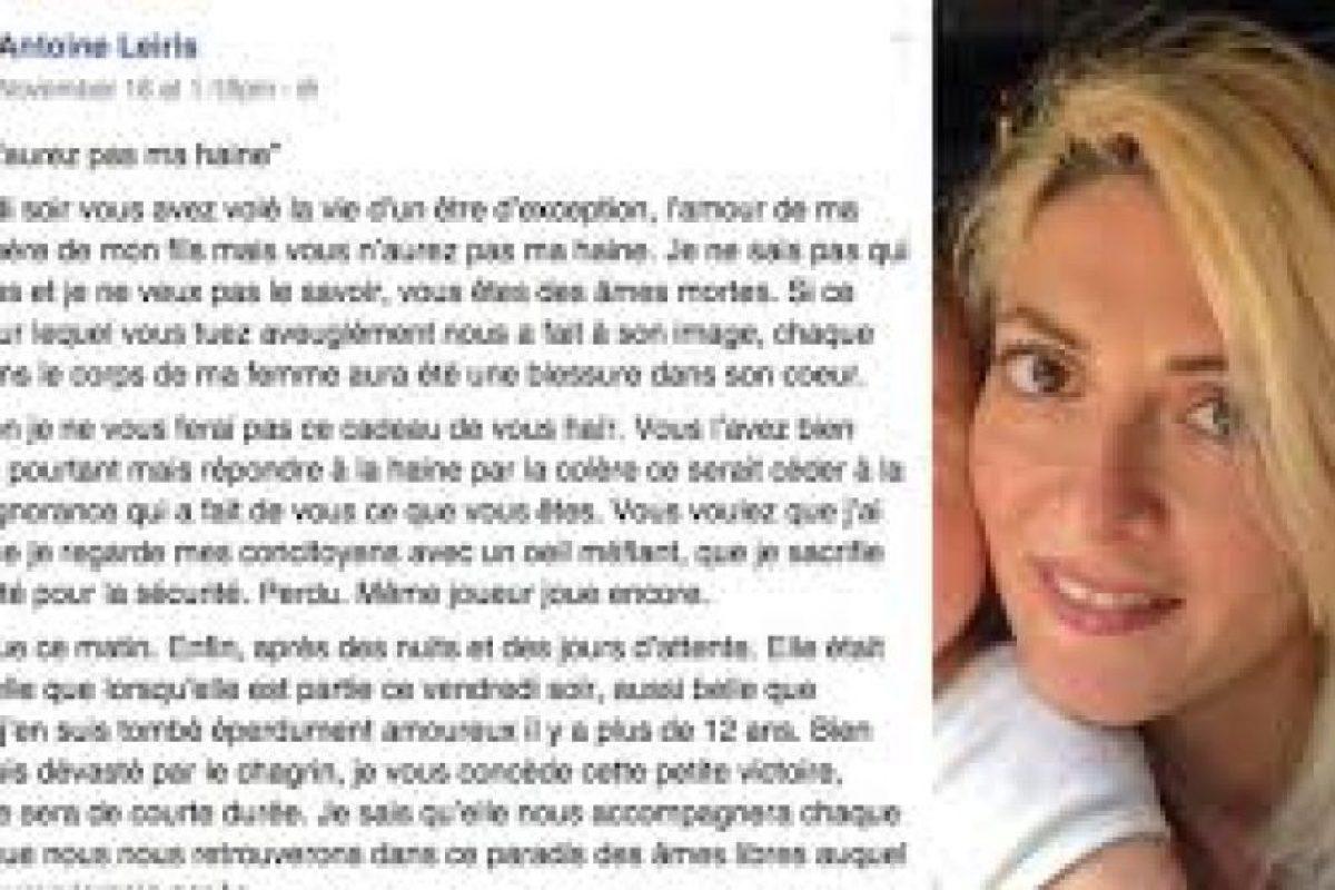 Hélène Muyal-Leiris fue una de las 89 víctimas mortales del asalto a la sala Bataclan. Foto:Facebook. Imagen Por: