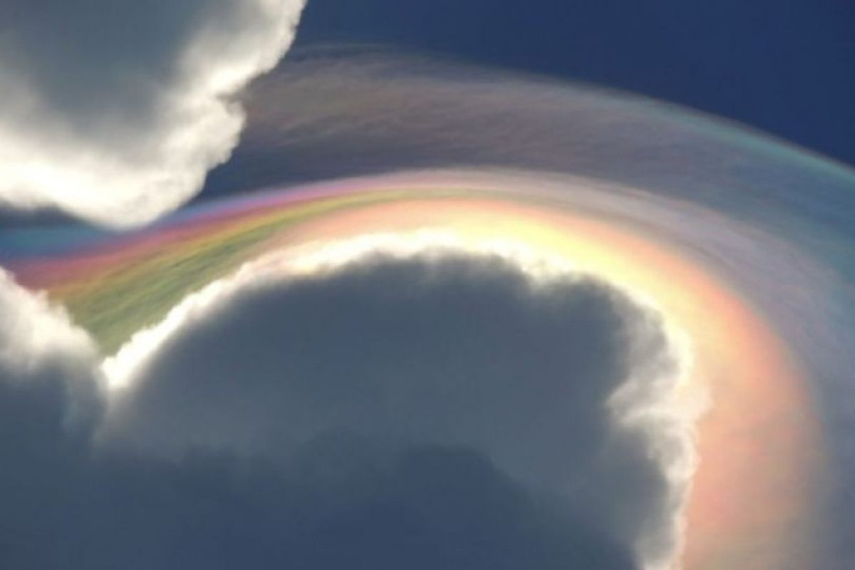 5. Este fenómeno se conoce como nube iridesente, fue registrada en Jamaica este mes Foto:Vía Facebook.com/beckie.dunning. Imagen Por: