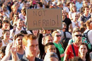 Muestras de solidaridad tras los atentados terroristas en París. Foto:Getty Images. Imagen Por: