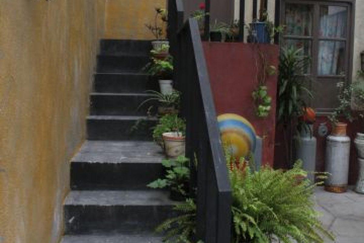 """Las escaleras a la casa de """"Paty"""". Foto:Nicolás Corte. Imagen Por:"""