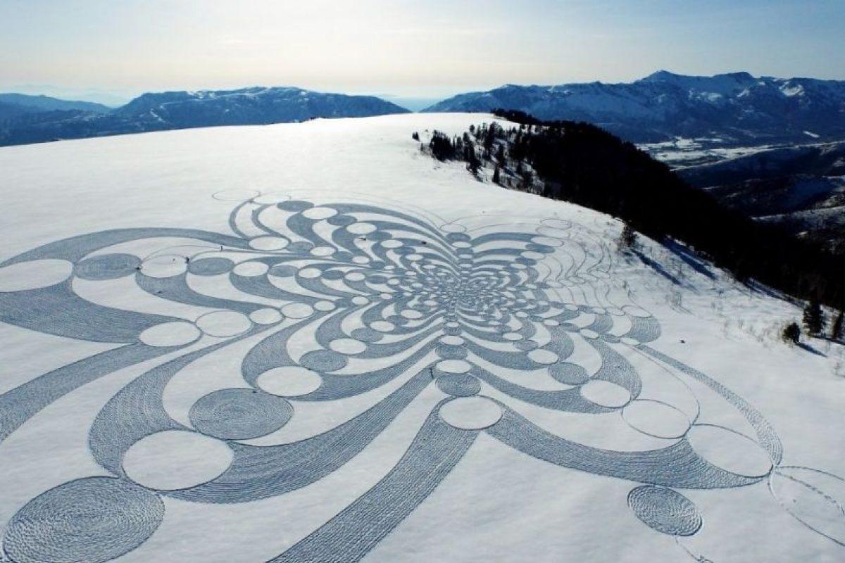 Ocupa aproximadamente una superficie de 100 por 100 metros. Foto:Vía Facebook/snowart8848. Imagen Por: