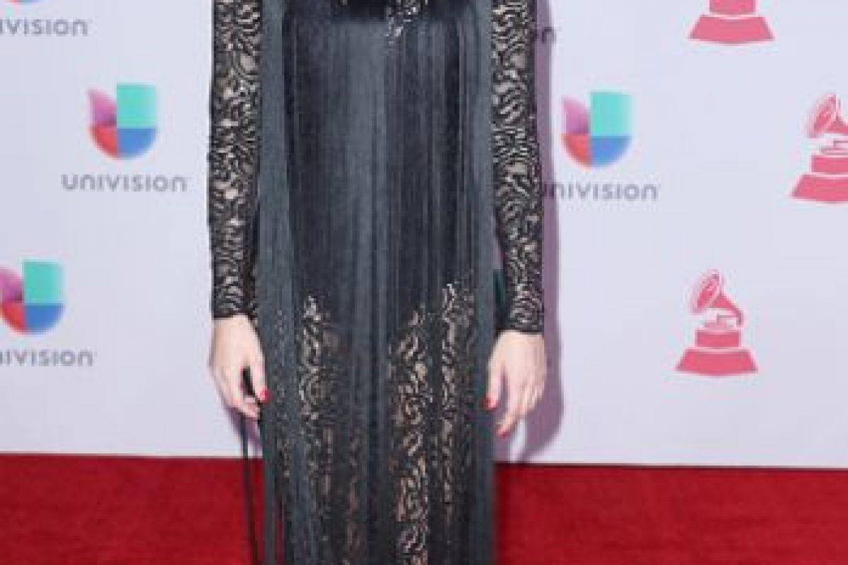 María Toledo se disfrazó de Morticia Addams… pero con flecos. Foto:vía Getty Images. Imagen Por: