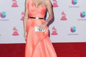 Francisca La Chapel, señorita Nuestra Belleza Latina 2015, con un vestido tan estereotípico. Es demasiado pequeño y la hace ver ultra musculosa. Foto:vía Getty Images. Imagen Por: