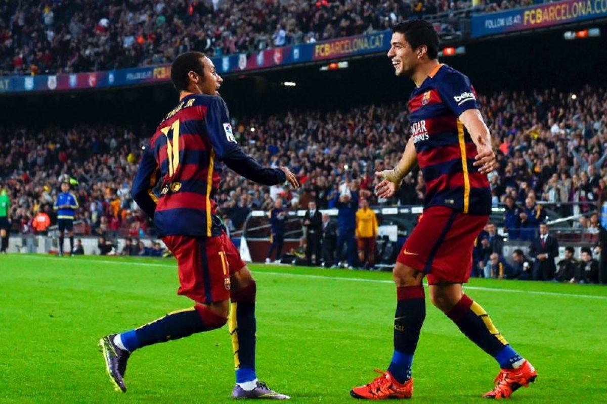 11. Neymar y Luis Suárez suman 20 goles en la Liga de España; han marcado más que 17 equipos del campeonato ibérico Foto:Getty Images. Imagen Por: