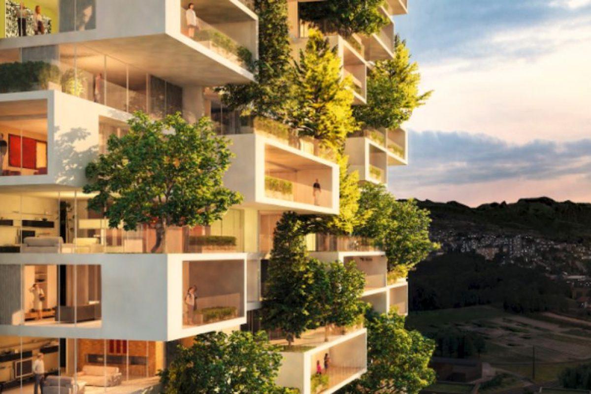 Así lucirán los futuros apartamentos de la torre Foto:Vía lescedres.chavannes.ch. Imagen Por: