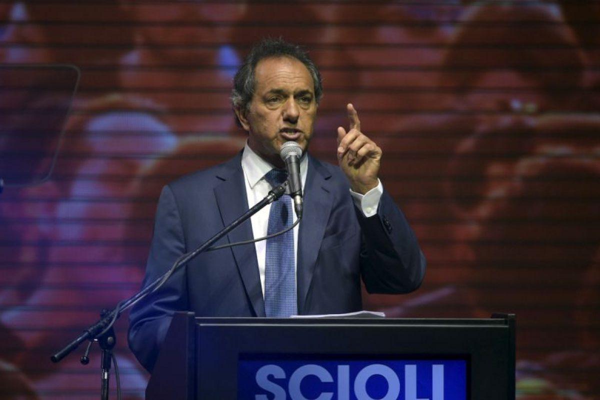 Scioli obtuvo el 36.6% de los votos Foto:AFP. Imagen Por: