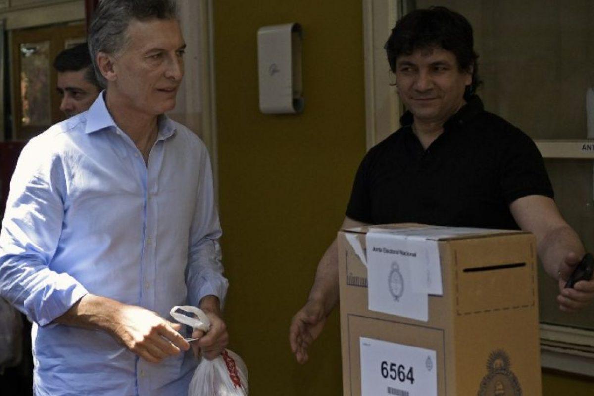 """""""Vamos Argentina, Vamos! Cambiemos, Cambiemos. Vamos todo el mundo!!! Gracias de corazón"""", escribió en redes sociales Foto:AFP. Imagen Por:"""