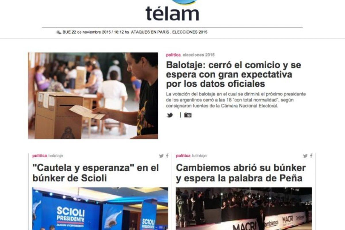 Télam – Agencia Nacional de Noticias Foto:TELAM.com.ar. Imagen Por: