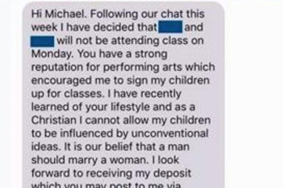 Y este fue el mensaje a Michael. Foto:Vía Facebook. Imagen Por: