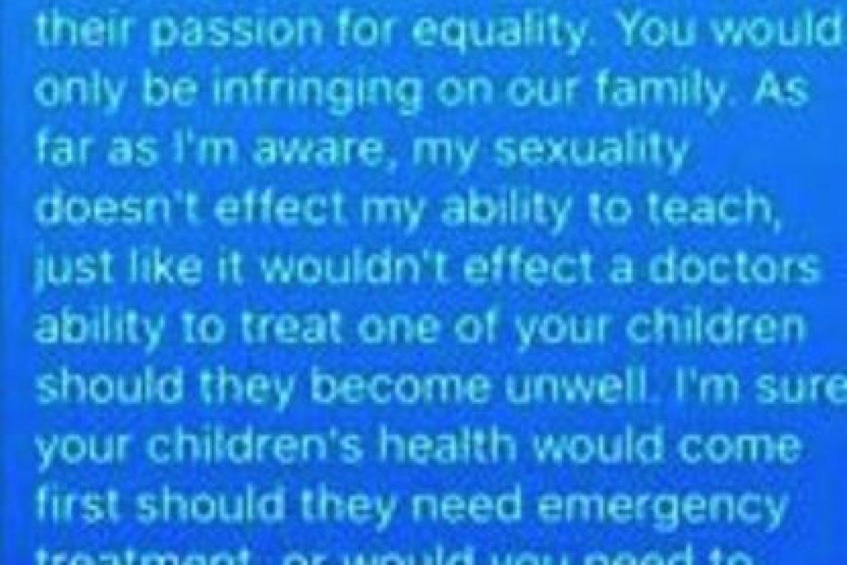Esta fue la respuesta del maestro Michael. Foto:Vía Facebook. Imagen Por: