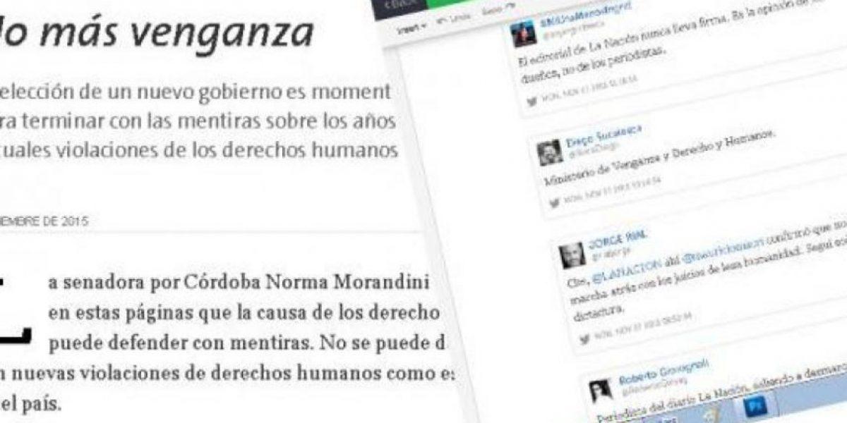 Polémica editorial de diario La Nación causa indignación en Argentina