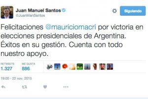 Juan Manuel Santos, presidente de Colombia Foto:Twitter.com. Imagen Por: