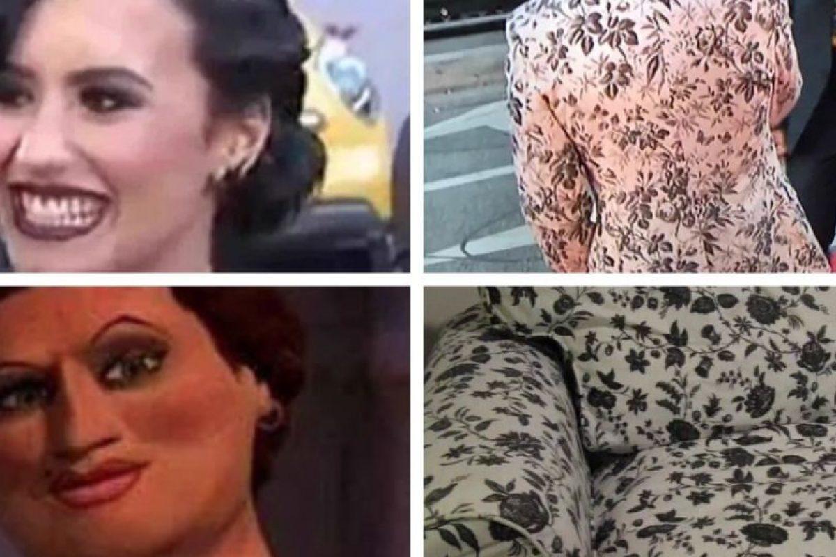 El vestuario de Harry Styles y la apariencia de Demi Lovato Foto:Vía Twitter. Imagen Por: