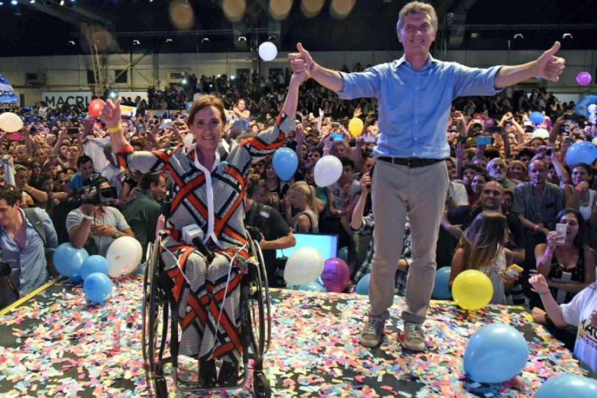 representando al partido político cambiemos. Foto:AFP. Imagen Por: