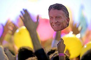 Durante el primer balotaje de Argentina. Foto:AFP. Imagen Por: