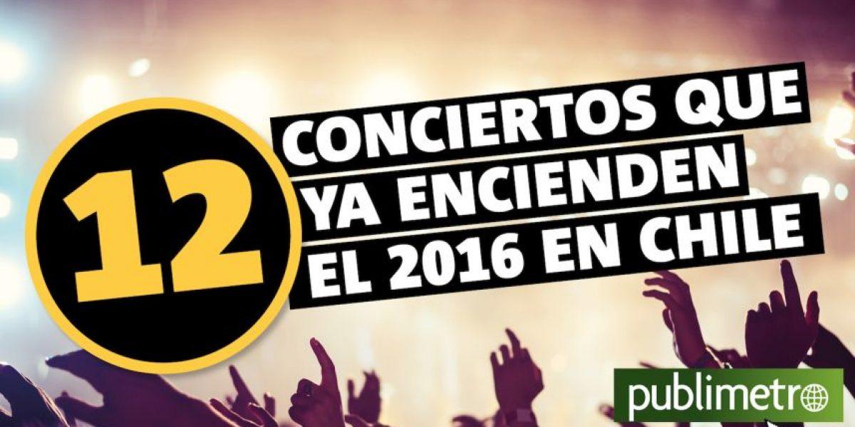 Infografía: 12 conciertos que ya encienden el 2016 en Chile