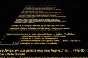 Así se ve la pantalla al ingresar la frase tradicional de esta cinta Foto:Reproducción. Imagen Por: