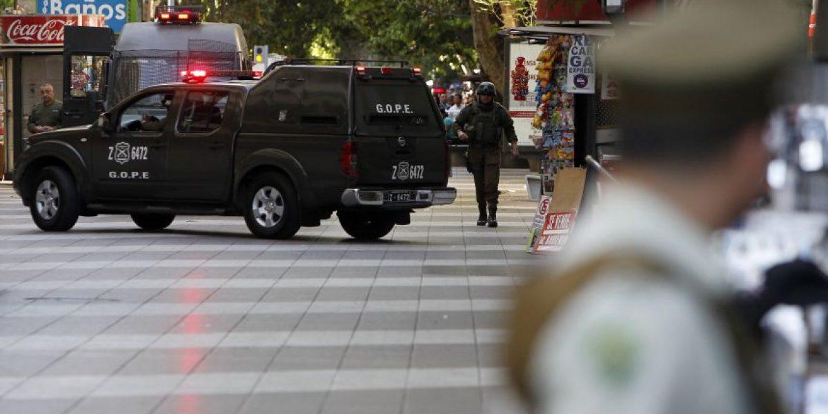 Objeto sospechoso generó operativo policial en pleno Paseo Ahumada