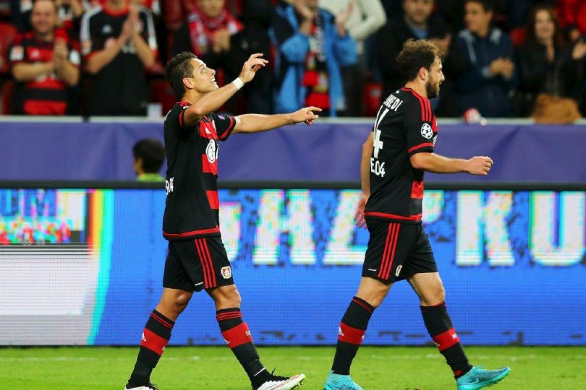 """5. Javier Hernández se presenta con el Bayer Leverkusen ante el Bate; el """"Chicharito"""" suma siete partidos anotando de forma consecutiva Foto:Getty Images. Imagen Por:"""