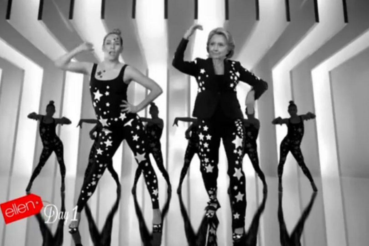 """Que con un poco de edición mostró los pasos """"sensuales"""" de Clinton. Foto:Vía Ellentube. Imagen Por:"""
