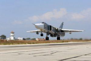 El avión de combate era un caza SU-24 Foto:AFP. Imagen Por:
