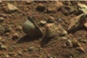 Supuesto casco de la Primera Guerra Mundial. Se encontró en abril de 2013 Foto: NASA. Imagen Por: