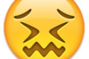 8- Parece que está a punto de llorar, pero solamente está aturdido. Foto:vía emojipedia.org. Imagen Por:
