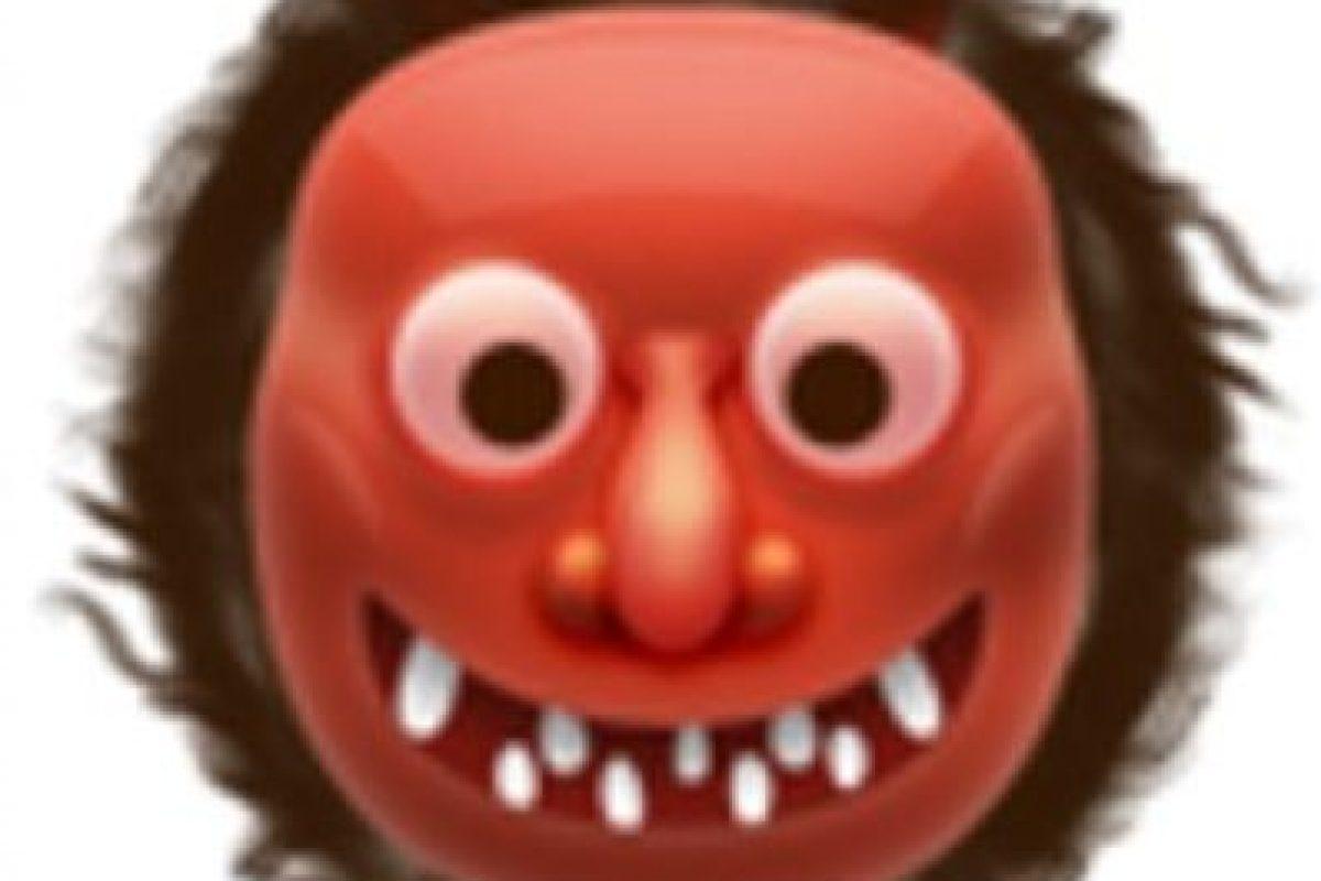 10- También usado para representar al demonio, aunque en verdad es un ogro japonés. Foto:vía emojipedia.org. Imagen Por: