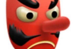 4- Es utilizado como el diablo, aunque solamente es una máscara japonesa de un duende. Foto:vía emojipedia.org. Imagen Por: