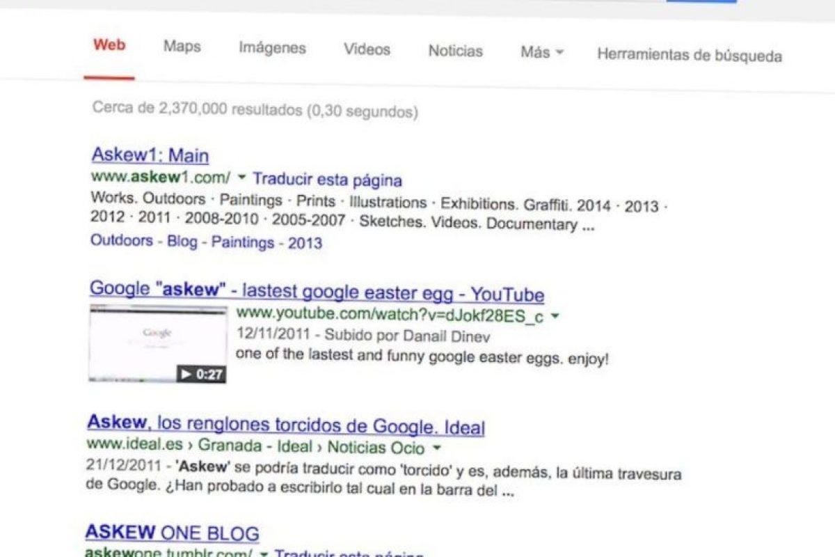 """""""Askew"""" en Google. Foto:Google. Imagen Por:"""