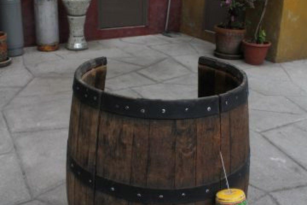 """El barril original donde se metía """"El Chavo"""". Foto:Nicolás Corte. Imagen Por:"""
