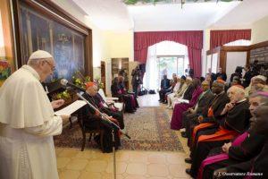 El pontífice se reunió con otros religiosos. Foto:AFP. Imagen Por: