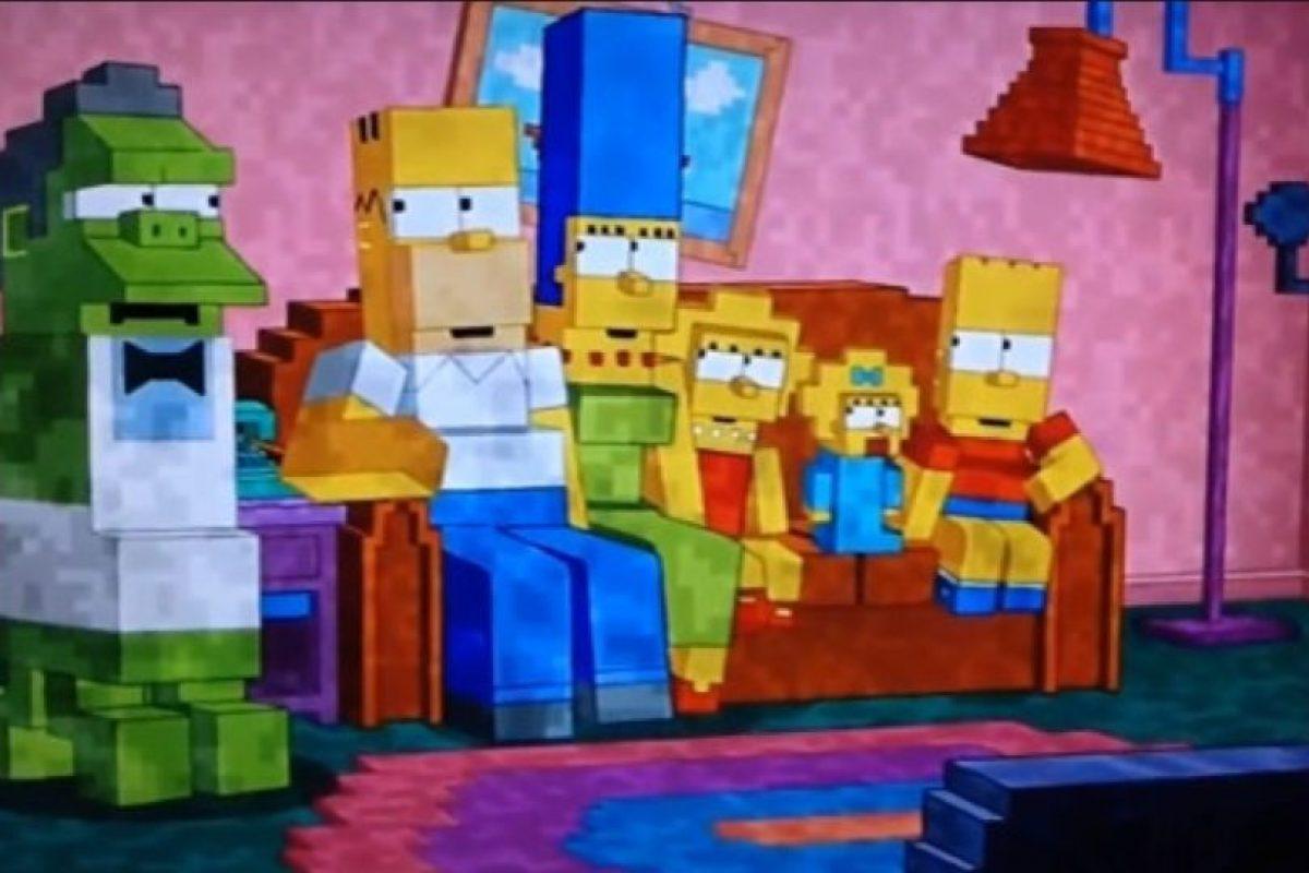 Rindieron homenaje al juego Minecraft. Foto:Fox. Imagen Por: