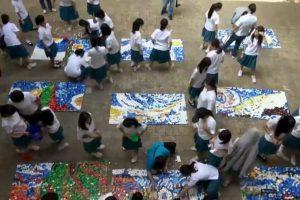 Sin embargo, la obra fue pintada durante el día, de memoria. Foto:Vía facebook.com/www.smgsh.tc.edu.tw. Imagen Por: