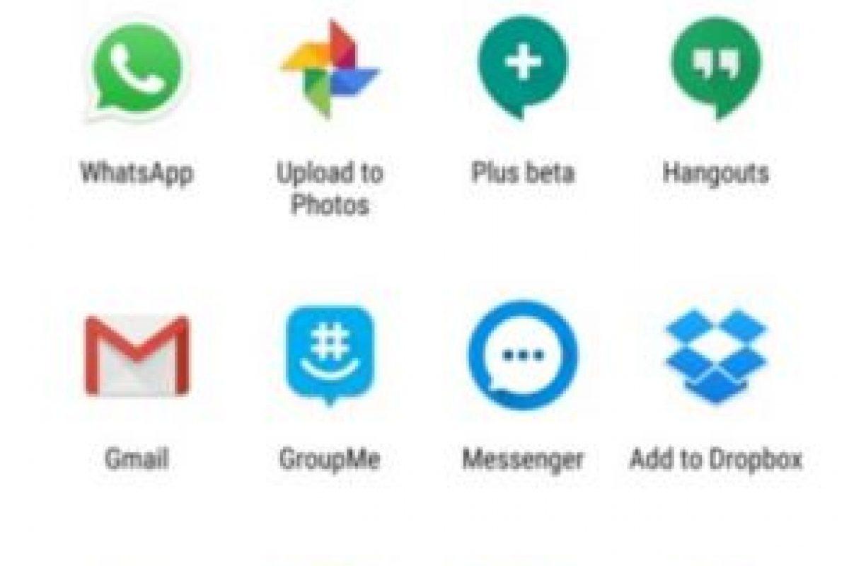 """4- """"Direct Share"""". Una forma más sencilla de compartir documentos o archivos en Android desde otras aplicaciones a sus contactos de WhatsApp y sin entrar en la plataforma. Foto:WhatsApp. Imagen Por:"""
