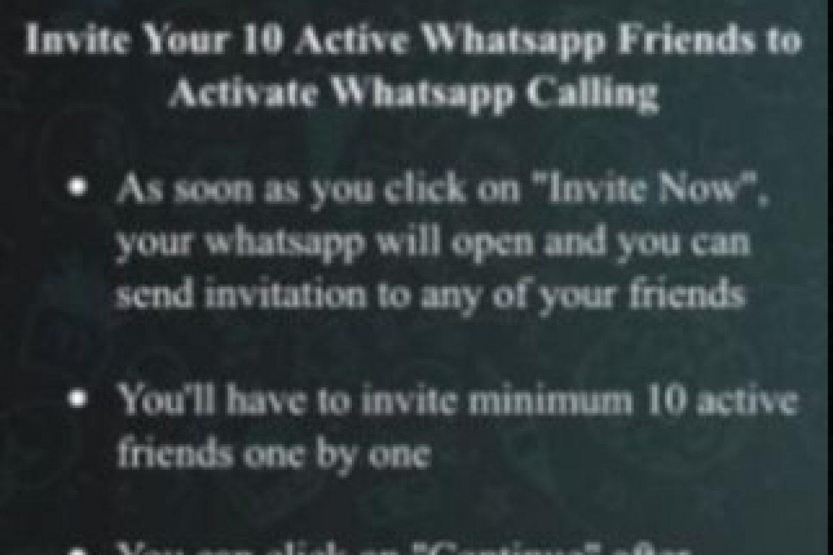 Ofrece a los usuarios obtener la opción de llamadas gratuitas siempre y cuando inviten a 10 de sus amigos a unirse. Foto:vía Tumblr.com. Imagen Por: