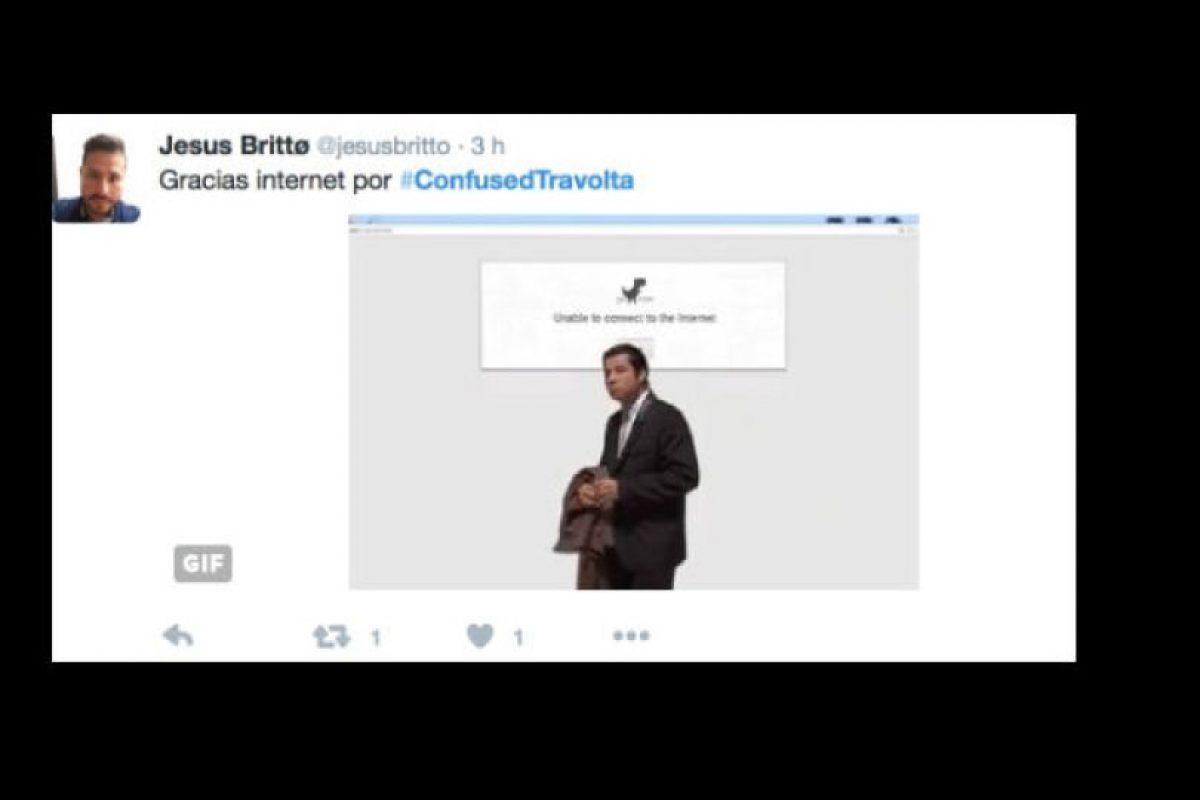 """El meme surgió en 2012, en Imgur. El usuario karmafrapuccino posteó la escena en la que """"Vincent Vega"""" llegaba a la casa de Mia Wallace. Foto:vía Twitter. Imagen Por:"""