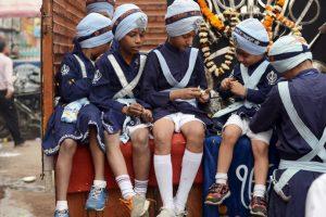 Procesión religiosa en Nueva Delhi, India. Foto:AFP. Imagen Por: